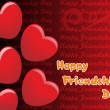 Romantic happy friendship day background - Stockvektor