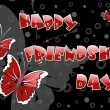 Friendship day background with butterfly - Stock Vector