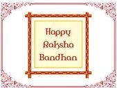 Tarjeta de felicitación para rakshabandhan — Vector de stock