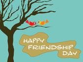 Friendship day wallpaper illustration — Stock Vector