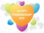 Friendship day card with colorful heart — Stock Vector