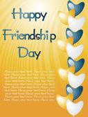 Illustration av vänskap dag-kort — Stockvektor