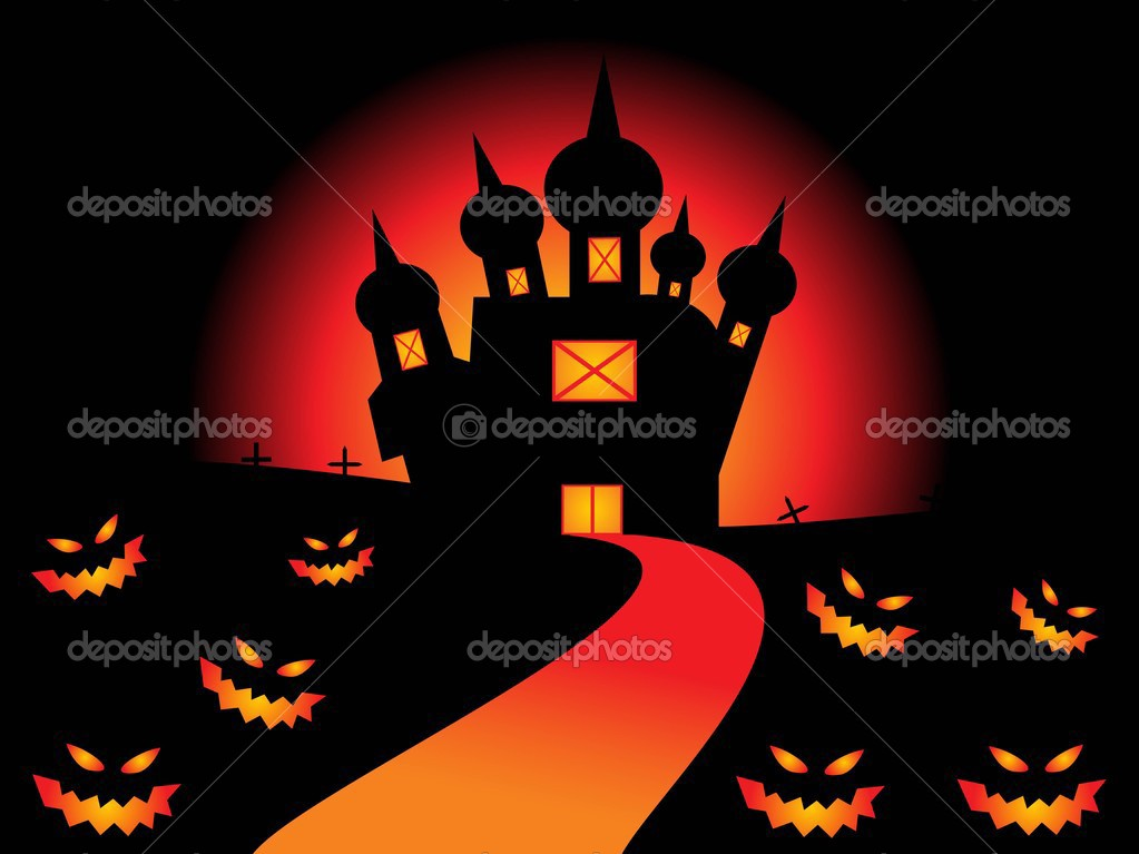 Vector illustration of abstract halloween background — Stock Vector #3301710