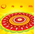onam background with creative artwork — Stock Vector