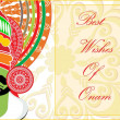 Royalty-Free Stock Vector Image: Attractive pattern card for onam celebration