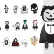 Illustration of halloween icons set — Stock Vector