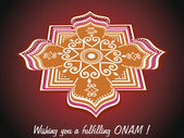 Wish you a fulfilling onam — Stock Vector