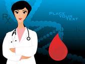 Illustration of medical background — Cтоковый вектор