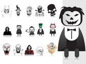 Illustration of halloween icons set — Stock Vector