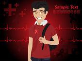医学背景的插图 — 图库矢量图片