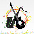 Illustration of musical background — Stock Vector #3596345