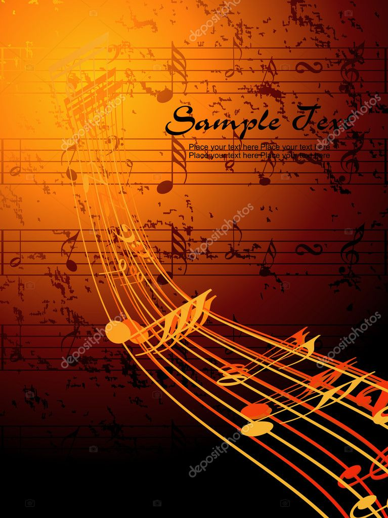 Vector illustration of musical background — Stock Vector #3596647