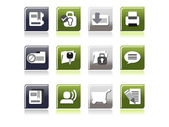 Vector set of business icons — Stockvektor