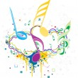 Royalty-Free Stock Vektorfiler: Vector illustration of musical background