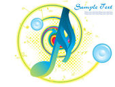Vector illustration of musical background — Vector de stock