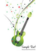 Vector illustration of musical background — Stock Vector
