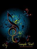 Illustration vectorielle de fond musical — Vecteur
