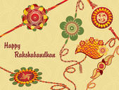 Background for rakshabandhan — Stock Vector