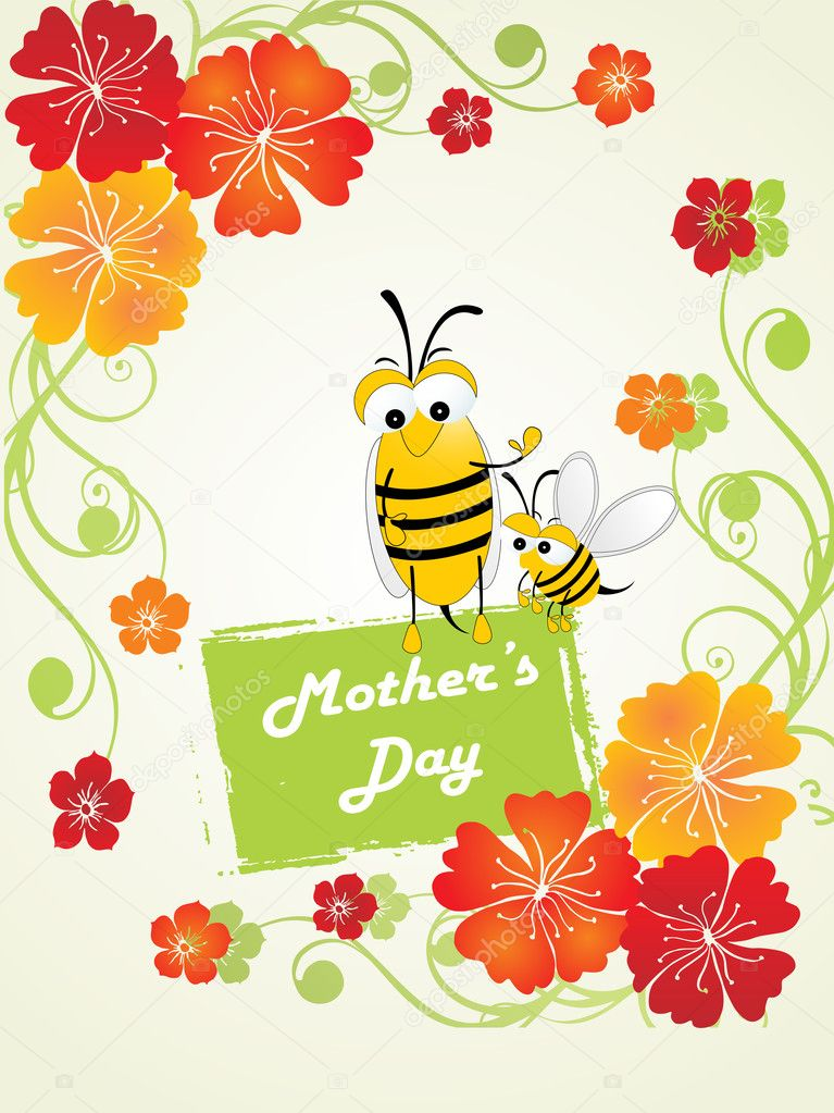 Vector illustration of happy mother day background — Stock Vector #3641895
