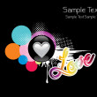 Wallpaper for valentine day - Imagen vectorial