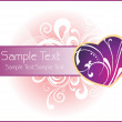 Vector romantic wallpaper - Imagen vectorial