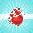 Романтические обои — Cтоковый вектор
