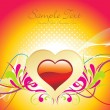 Beautiful romantic background - Imagen vectorial