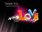 Beautiful romantic background — Stock Vector
