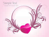 Beautiful romantic background — Stock Vector