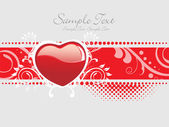 Mooie romantische achtergrond — Stockvector