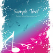 Illustration of musical background — Stock Vector #3754793