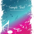 Illustration of musical background — Stock Vector