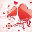 Royalty-Free Stock Imagen vectorial: Beautiful love background, illustration