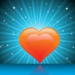 Beautiful love background, illustration — Stock Vector