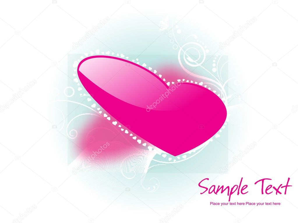 Beautiful abstract illustration for valentine day — Vektorgrafik #3756202
