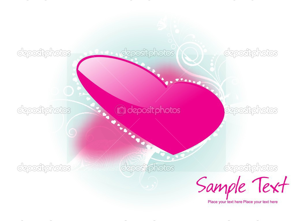 Beautiful abstract illustration for valentine day — Stock Vector #3756202