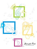 Abstract musical background — Stock Vector