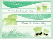 Vector set of patrick day banner — Stock Vector