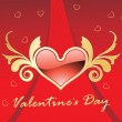 Beautiful illustration for valentine day — Image vectorielle