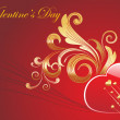 Beautiful illustration for valentine day - Stock vektor
