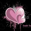 Vector grungy love background - Stock Vector