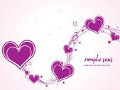 Illustrazione romantica per san valentino — Vettoriale Stock