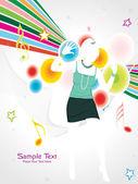 Musical background illustration — Stock Vector