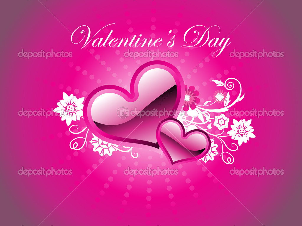 Beautiful romantic illustration for valentine day — Stock Vector #3822912