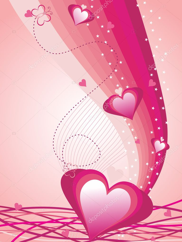 Beautiful romantic illustration for valentine day — Stock Vector #3823627