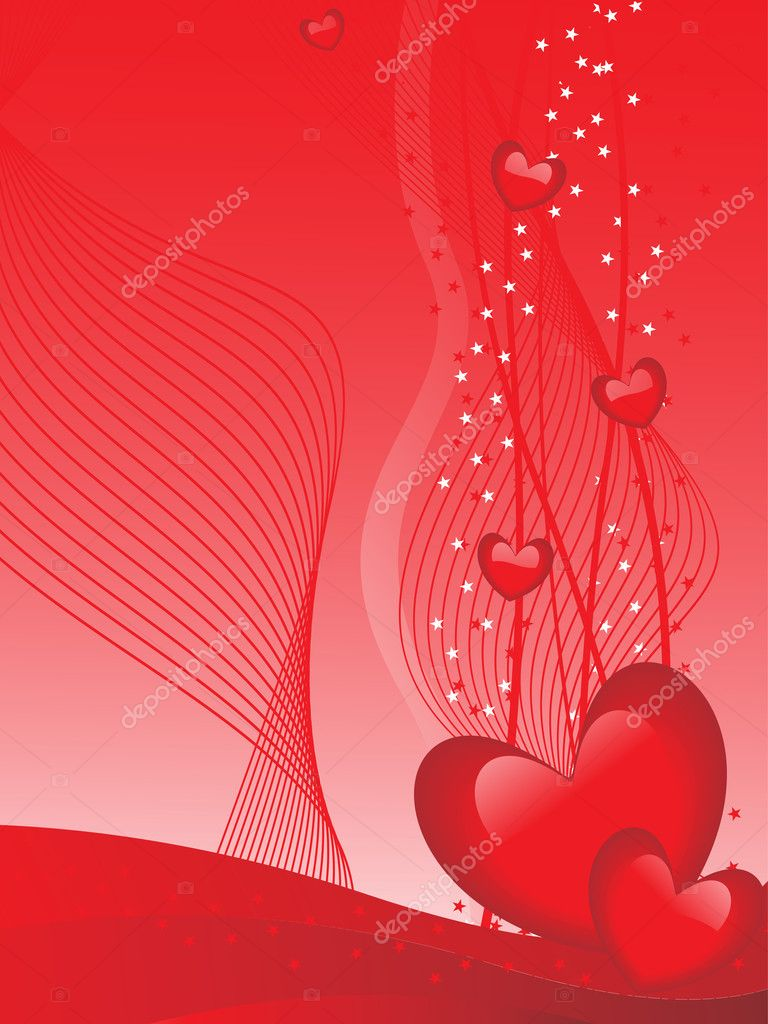 Beautiful romantic illustration for valentine day — Stock Vector #3823656