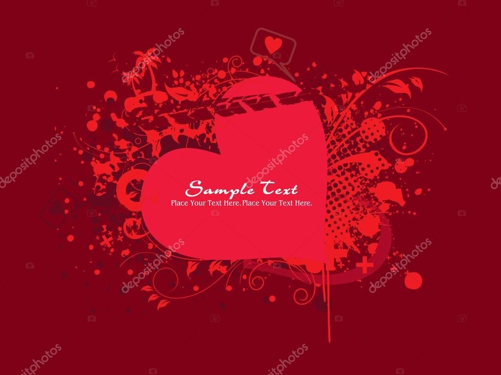 Background with isolated romantic grungy frame, illustration  Stock Vector #3823710