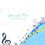 Musical background illustration — Stock Vector #3831733