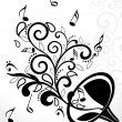 Vector illustration of music background - Image vectorielle