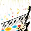 Vector illustration of music background — Imagens vectoriais em stock
